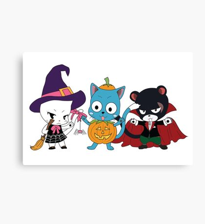 Fairy Tail Halloween Costumes Canvas Print