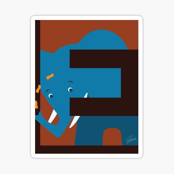 E is for Elephant Sticker