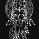 indian native Owl Dream catcher by Dadang Lugu Mara Perdana