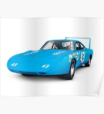 1970 Plymouth Superbird retro race car art photo print Poster
