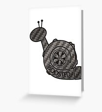 Carbon Fibre Boosted Turbo Snail Greeting Card