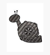Carbon Fibre Boosted Turbo Snail Photographic Print