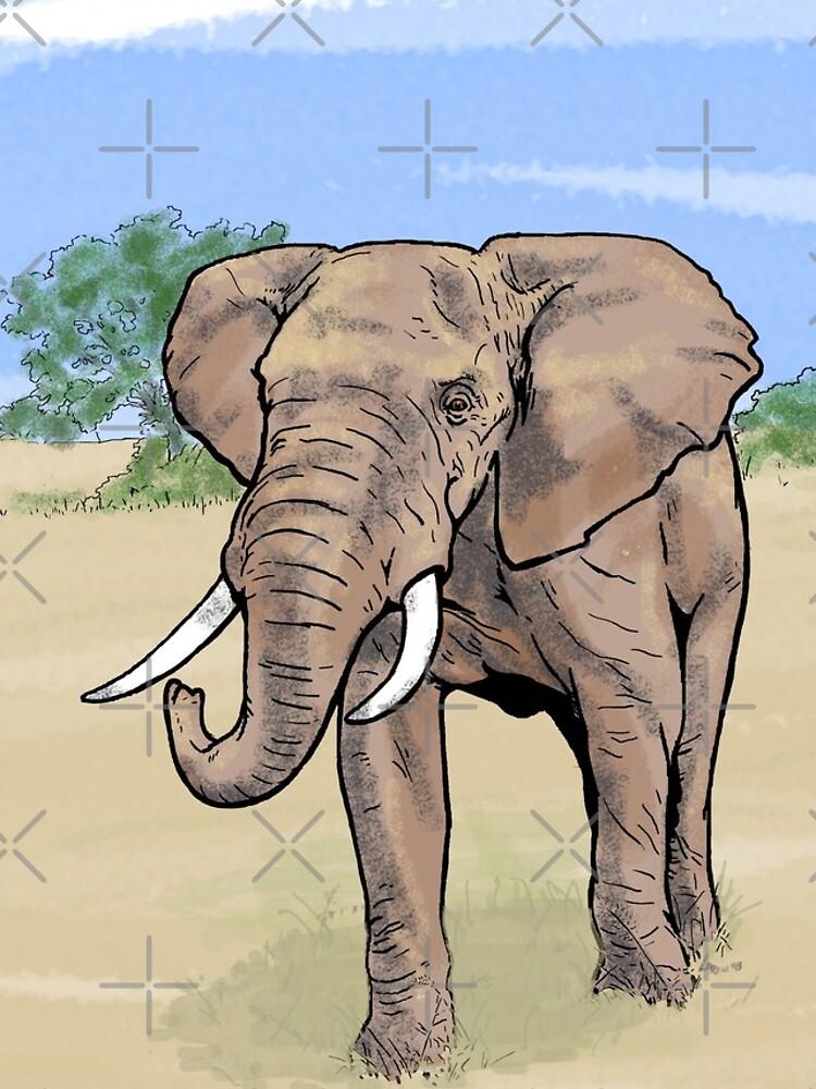 Einsamer Elefant von LorinNelson