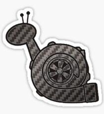 Carbon Fibre Turbo Snail Sticker