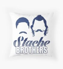 Stache Brothers Throw Pillow