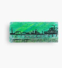 Green city landscape Canvas Print