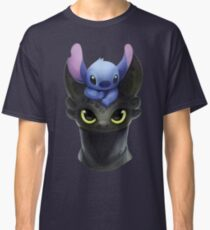 Stitch on Toothless Classic T-Shirt