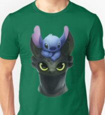 Stitch on Toothless Unisex T-Shirt