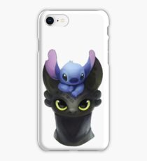 Stitch on Toothless iPhone Case/Skin