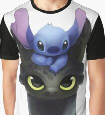 Stitch on Toothless Graphic T-Shirt