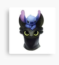Stitch on Toothless Canvas Print