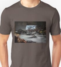 End of Fall waterfall photograph Unisex T-Shirt