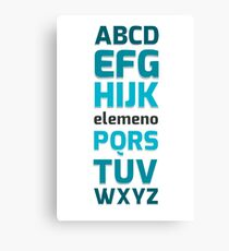 ABC elemeno  Canvas Print