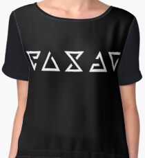 Witcher Signs - Enlarged (White) Women's Chiffon Top