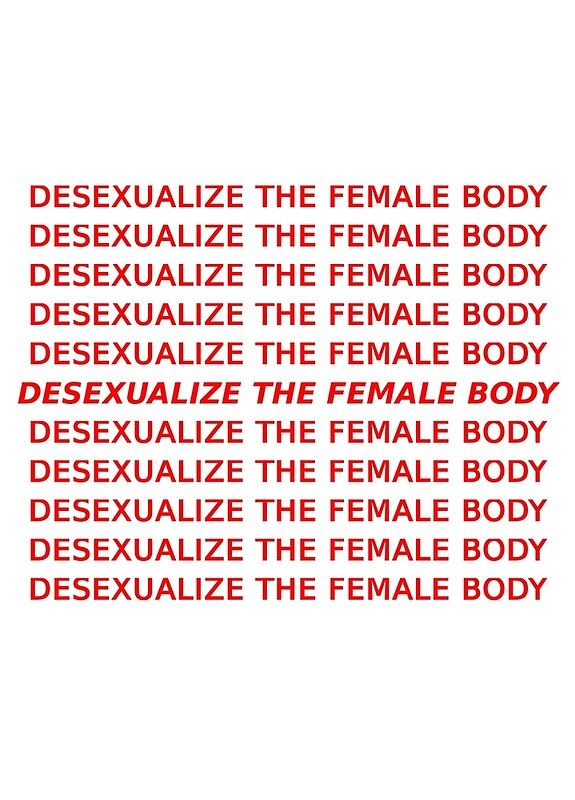 How to desexualize yourself