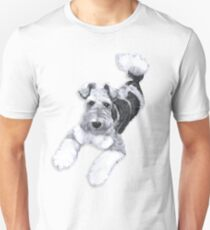Foxy Fox Terrier ~ Black and white Unisex T-Shirt