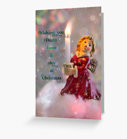 Angelic Christmas Greeting Greeting Card