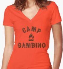 Camp Gambino Women's Fitted V-Neck T-Shirt