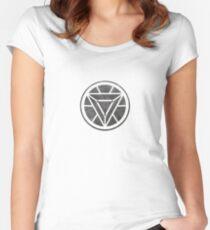 Iron man reactor Women's Fitted Scoop T-Shirt