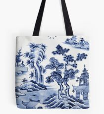 Chinese porcelain delft Tote Bag