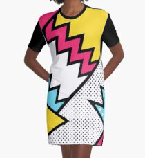 ZigZag 80s Memphis Pattern  Graphic T-Shirt Dress