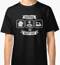 Mixed Breed Dogs Shirt For National Mutt Day and Dog Lovers Classic T-Shirt