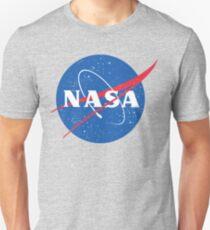 Camiseta unisex Logotipo de la NASA - albóndiga - vintage apenado