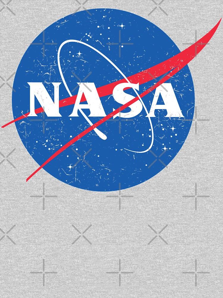NASA Logo - Meatball - Vintage Distressed by WishingInkwell