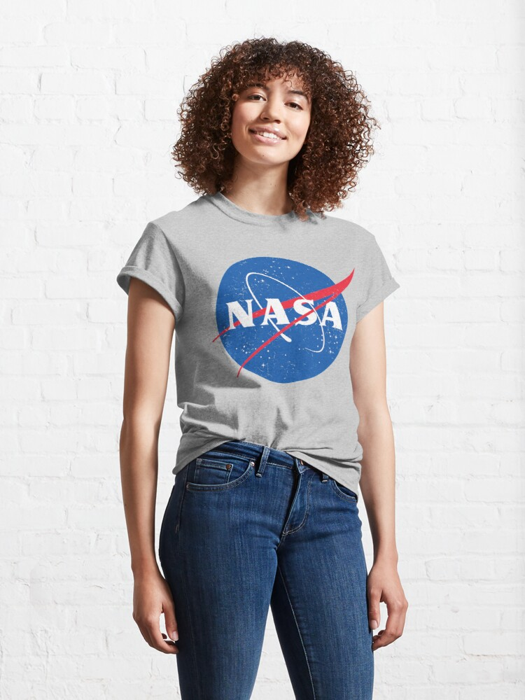 Alternate view of NASA Logo - Meatball - Vintage Distressed Classic T-Shirt
