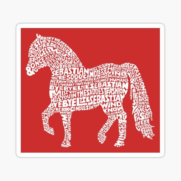 Bye Bye Lil Sebastian Calligram // Parks & Recreation // Red Sticker