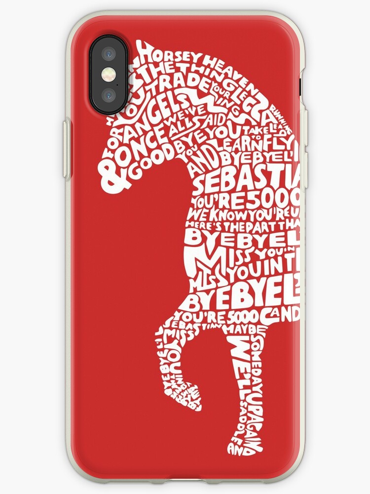 bba3776c311 'Bye Bye Lil Sebastian Calligram // Parks & Recreation // Red' iPhone Case  by DrawnToMind
