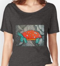 Mushroom Cap Turtle Women's Relaxed Fit T-Shirt