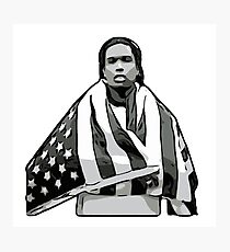 ASAP A$AP ROCKY American Flag A4ap Photographic Print