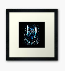 panther black Framed Print
