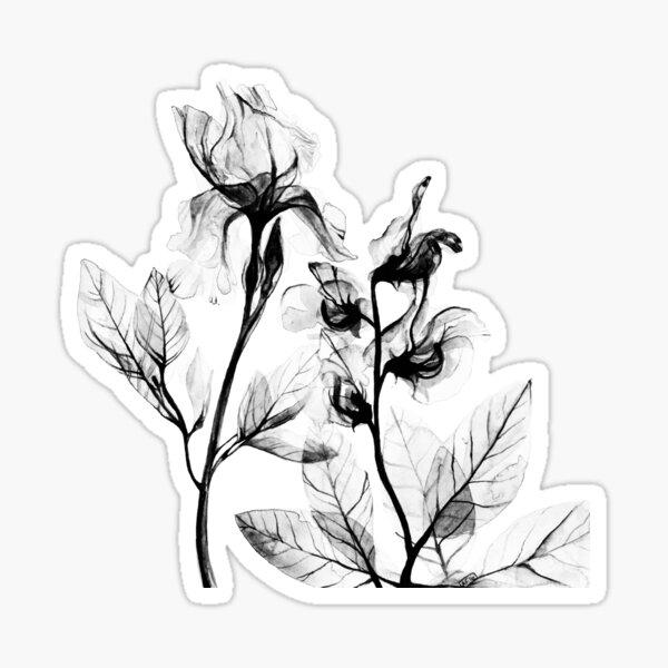 X-Ray Flowers Sticker