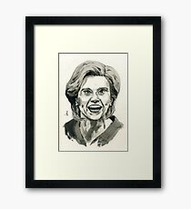 Kate McKinnon as SNL Hillary Clinton  Framed Print