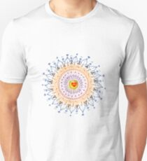 Shining Heart Zentangle  T-Shirt