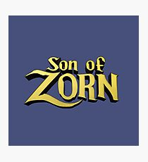 Son of Zorn Fan Art Print Design on Bitter Blue Photographic Print