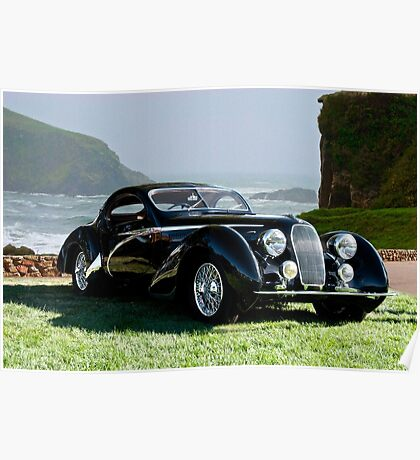 1938 Talbot Lago T150 C Speciale Tear Drop Coupe II Poster