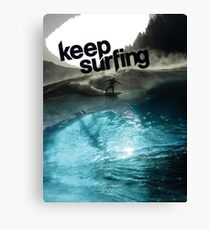 Keep Surfing Canvas Print
