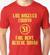 Los Angeles County Fire Dept. Rescue Squad 51 Slim Fit T-Shirt