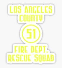 Los Angeles County Fire Dept. Rescue Squad 51 Sticker