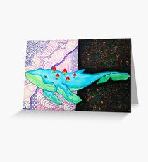 Inter-dimensional Travelling Space Whale Greeting Card