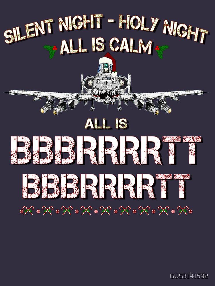 A-10 WARTHOG - Silent Night Christmas T shirt by GUS3141592