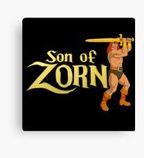 Son of Zorn Fan Art Print Design on Black Canvas Print