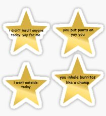 motivational star sticker set  Sticker