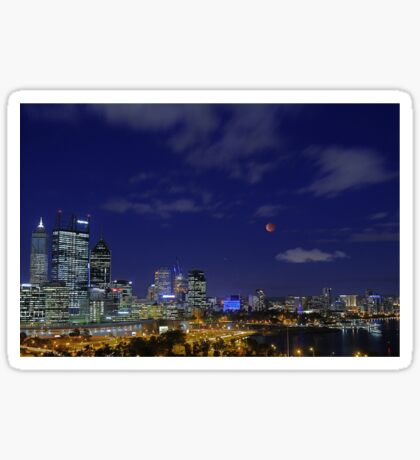 Lunar Eclipse - Perth Western Australia  Sticker