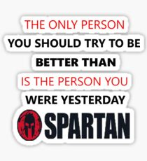 Spartan Race Motivation Sticker