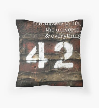42 - The Meaning of Life Throw Pillow
