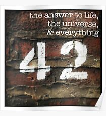 42 - The Meaning of Life Poster
